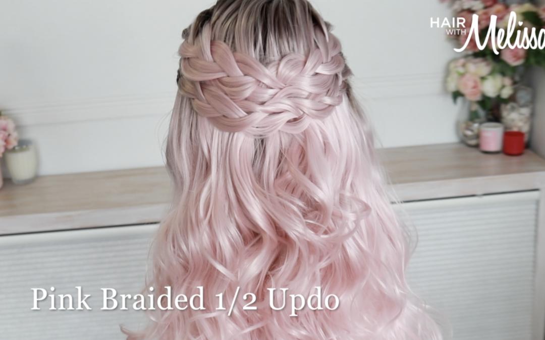 Pink Braided Half updo