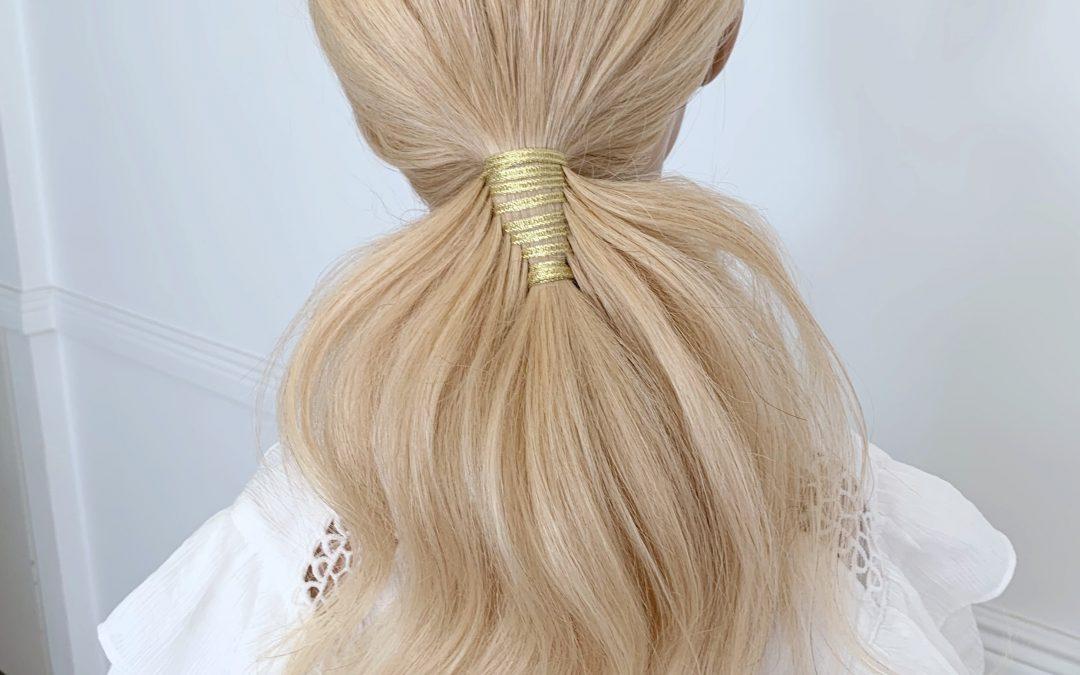 Gold Feathered Ponytail