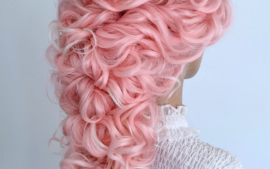 Cherry Blossom Curly Updo