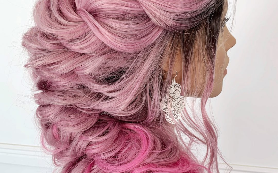 Mermaid Boho Wig Updo